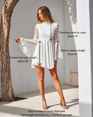 PAIGE DRESS - WHITE