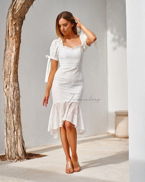 TWO SISTERS THE LABEL: PARKER DRESS - WHITE