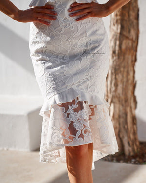 ABBY DRESS - WHITE
