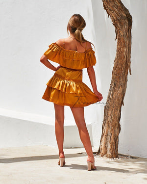 TWO SISTERS THE LABEL: CASSIE DRESS - MUSTARD