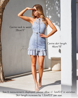 MIKA DRESS - POWDER BLUE
