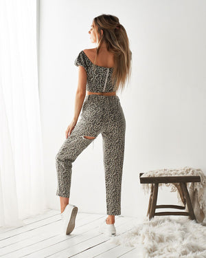 KAILA JEANS - LEOPARD