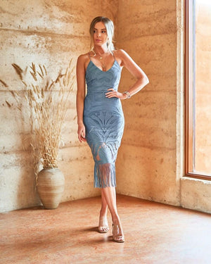 KHALEESI DRESS - MERCURY