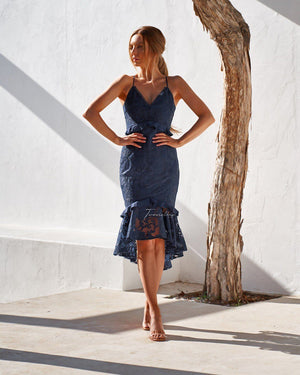 ABBY DRESS - NAVY