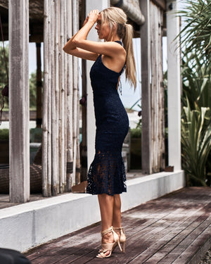TWO SISTERS THE LABEL: SONIA DRESS - NAVY