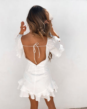 GO AWAY RONA DRESS - WHITE