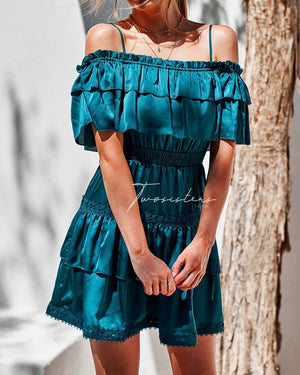 CASSIE DRESS - TEAL