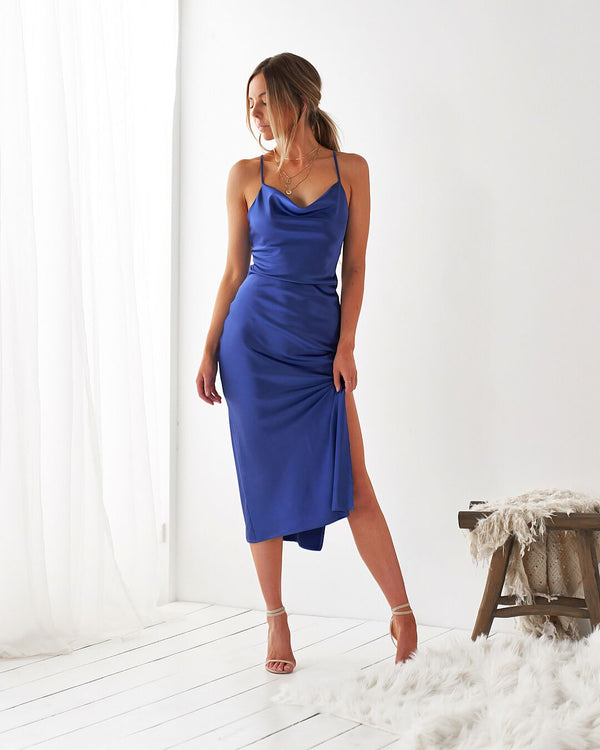 LORETA DRESS - ROYAL BLUE
