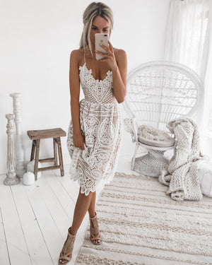 BELLA DRESS - WHITE