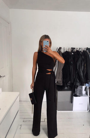 POLLY JUMPSUIT - BLACK