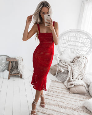 POPPY DRESS - RED