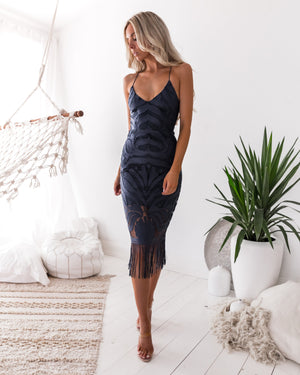 KHALEESI DRESS - STEEL BLUE