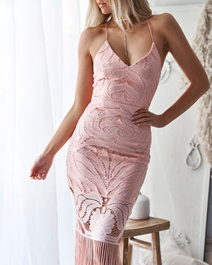 KHALEESI DRESS - BLUSH