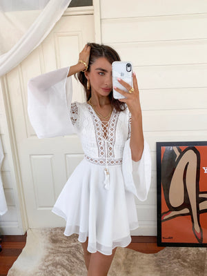 ALYSE DRESS - WHITE