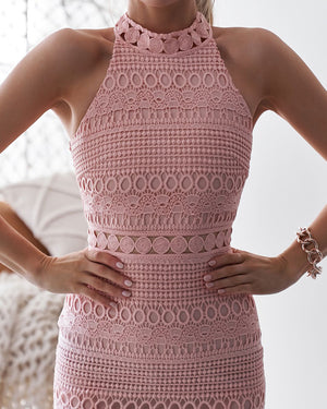 RIVERS MINI DRESS - BLUSH