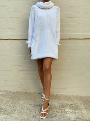 VENUS KNIT DRESS - WHITE