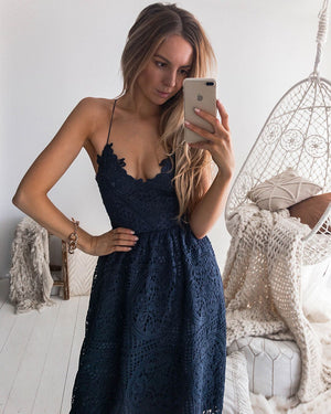 BELLA DRESS - STEEL BLUE
