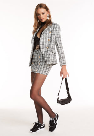 PALERMO BLAZER - BLACK TWEED