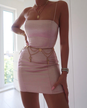 GABRIELLA DRESS - ICY PINK