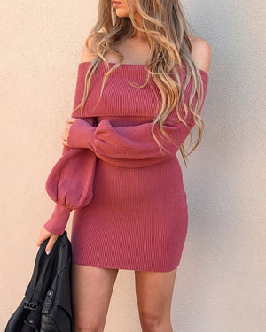 ROO KNIT DRESS - BERRY