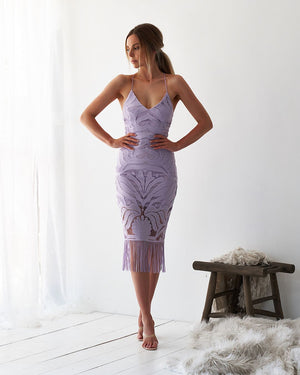 KHALEESI DRESS - LILAC