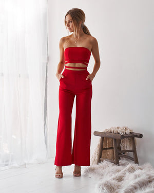 KIKI JUMPSUIT - RED