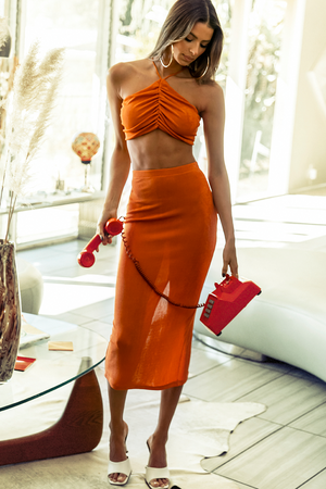 ON DEMAND SKIRT - ORANGE