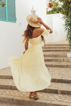 PHILIPA MAXI DRESS - LEMON