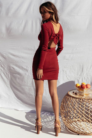 ROCHELLE DRESS - WINE
