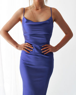 NATALIA DRESS - ROYAL BLUE