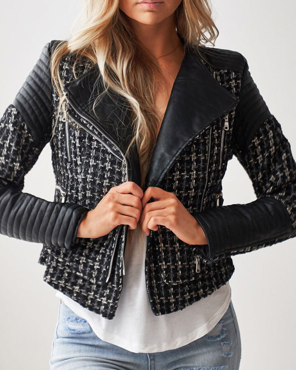 BESSY TWEED BIKER JACKET