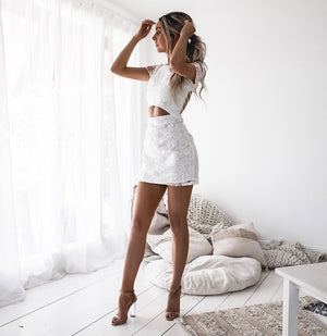 TWO SISTERS THE LABEL: SHAY LACE DRESS - WHITE
