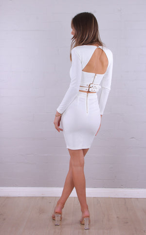 PORTIA DRESS - WHITE