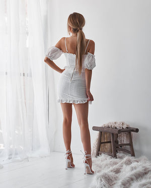ROSÉ ALL DAY DRESS - WHITE