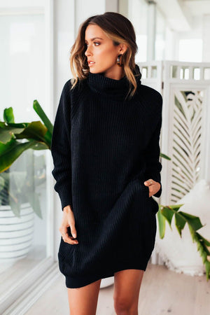 VENUS KNIT DRESS - BLACK