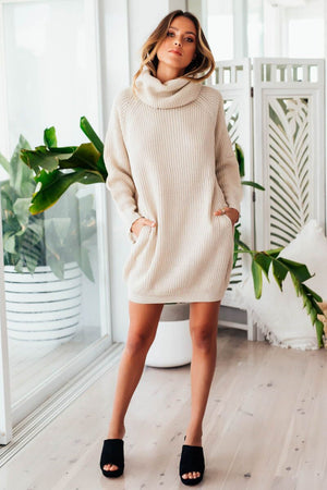 VENUS KNIT DRESS - SAND