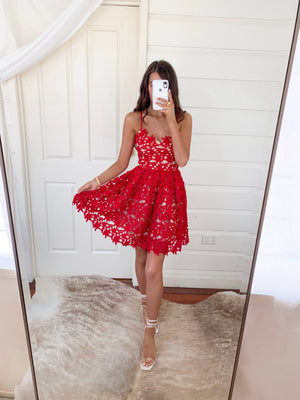 ELECTRA DRESS - RED