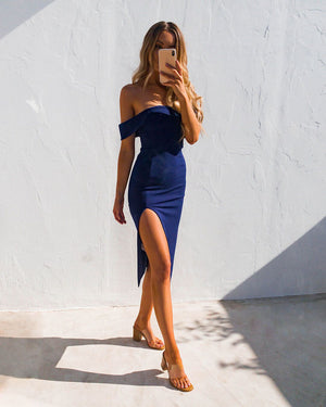 LEMON DRESS - NAVY