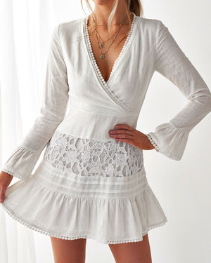 MYRA DRESS - WHITE