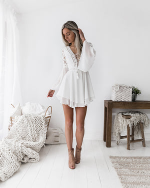 TWO SISTERS THE LABEL ALYSE DRESS - WHITE