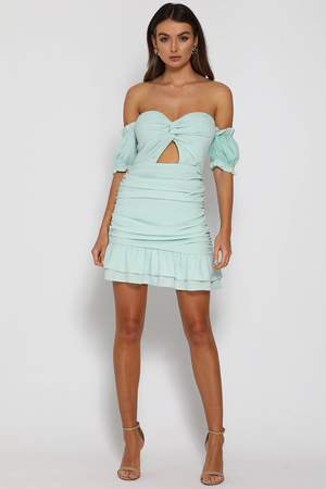 PROM PARTY MINI DRESS - MINT