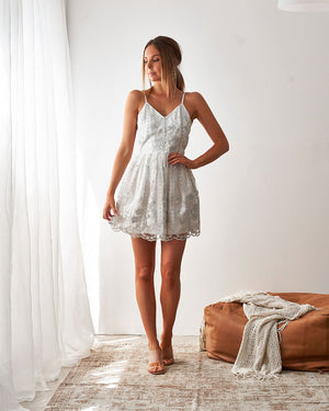TWO SISTERS THE LABEL: CASSIDY DRESS - WHITE