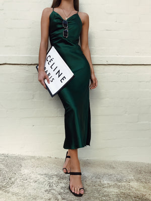LORETA DRESS - EMERALD