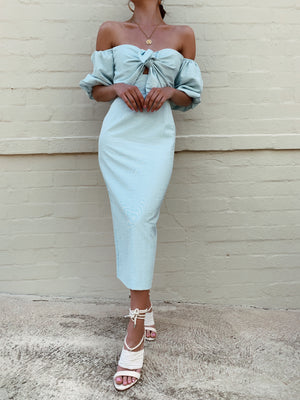 SHELBY DRESS - BABY BLUE