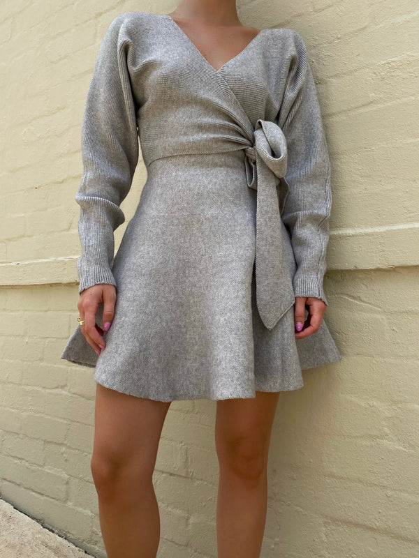 KAREN KNIT DRESS - GREY