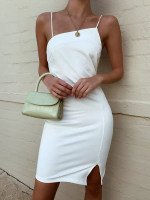 ALYSSA MINI DRESS - WHITE