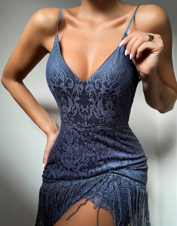 SHIMMY DRESS - BLUE