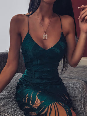 KHALEESI DRESS - EMERALD