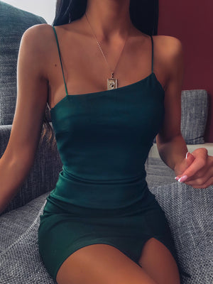 ALYSSA MINI DRESS - EMERALD