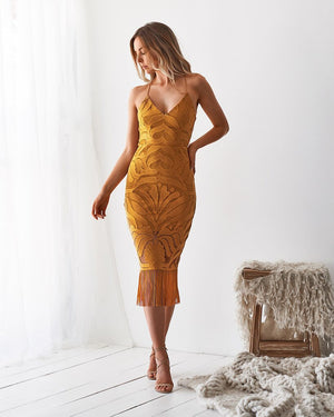 TWO SISTERS THE LABEL: KHALEESI DRESS - MUSTARD
